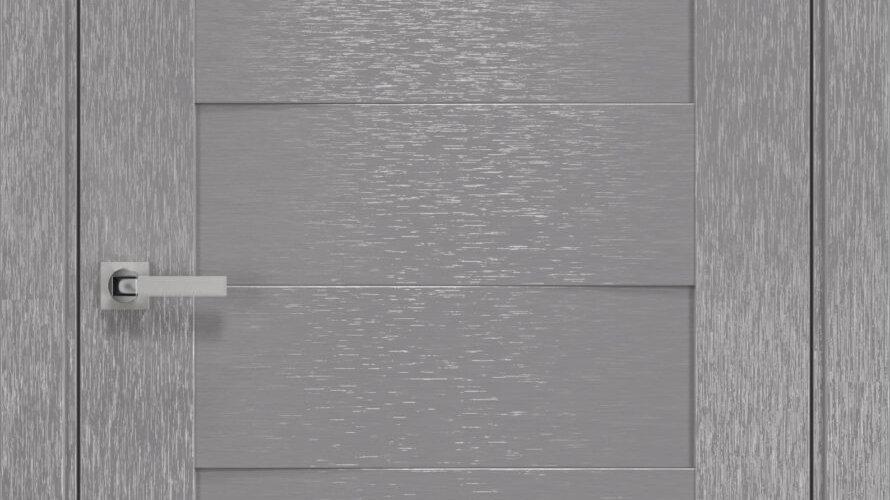 Двері Женева шовк х-хром скло сатин