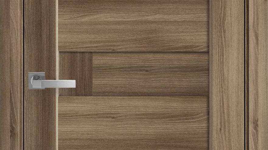 Двері Піана-А ПВХ DeLuxe Дуб Золотий глухе