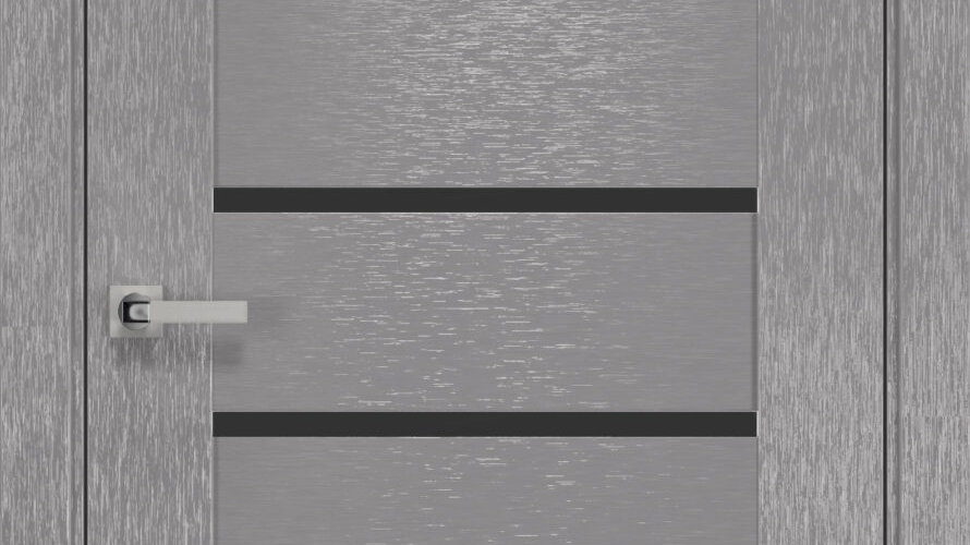 Двері Парма шовк х-хром чорне скло