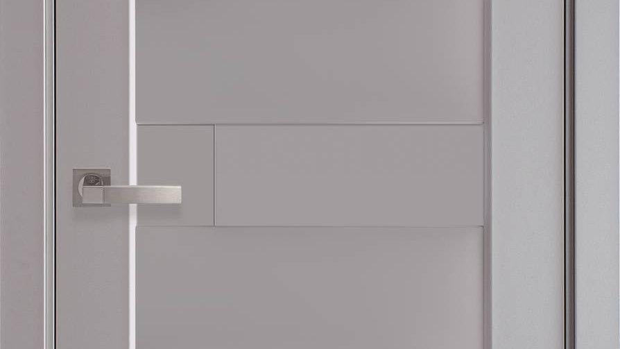 Двері Піана-А Premium Сіра Пастель глуха