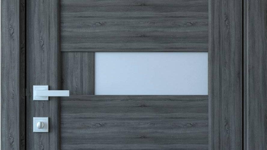 Двері Піана-G ПВХ DeLuxe Grey new скло сатін