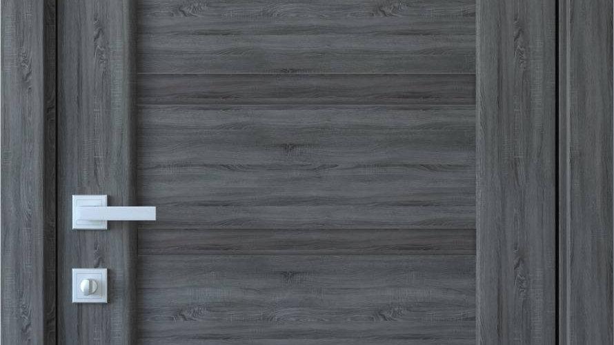 Двері Лінея ПВХ DeLuxe Grey new  глухе