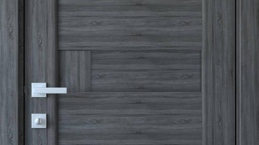 Двері Піана-А ПВХ DeLuxe Grey new глухе