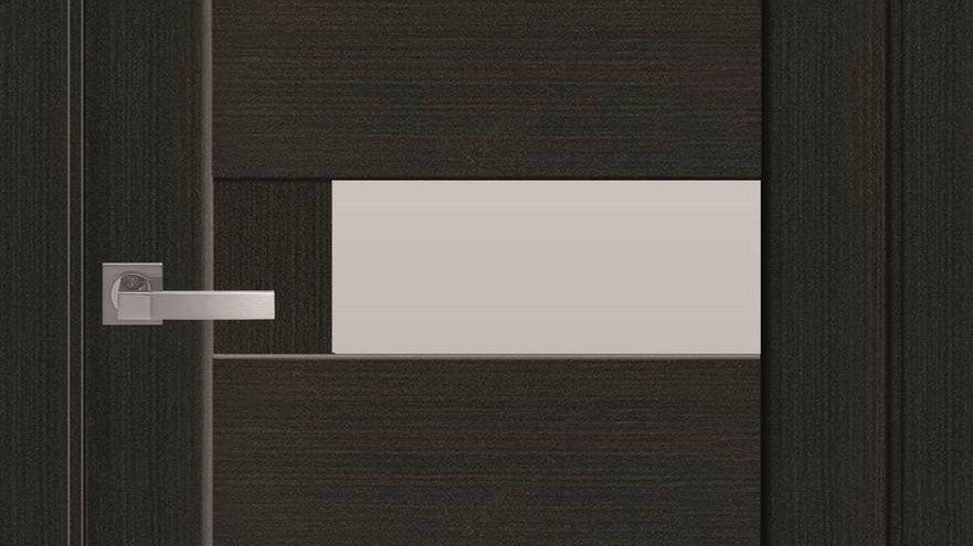 Двері Піана-G ПВХ DeLuxe Венге new скло сатін