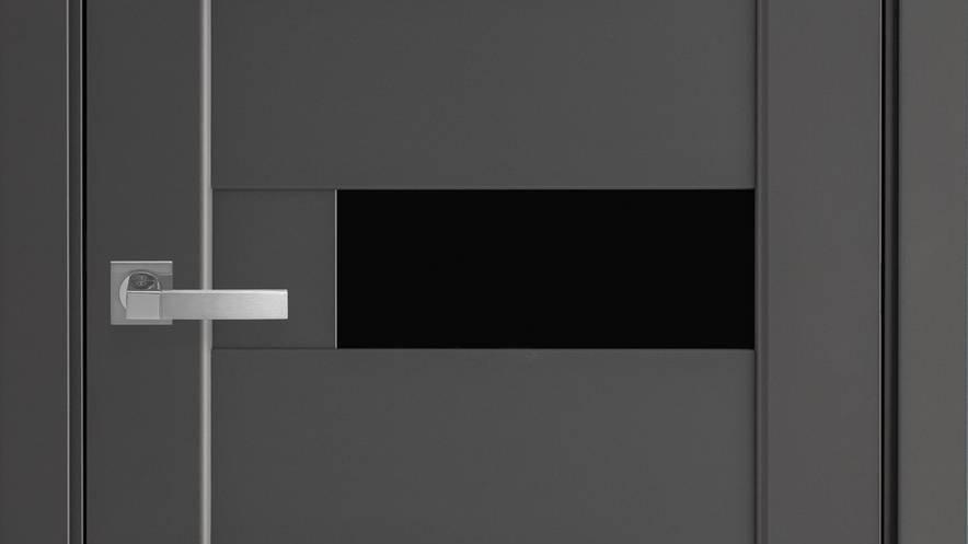 Двері Піана-blk Premium Антрацит скло чорне