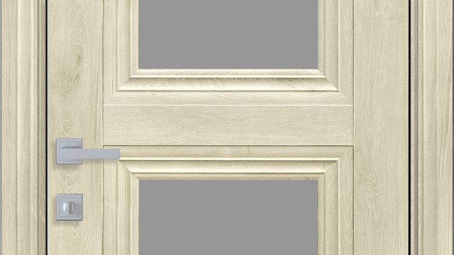 Двері Двері Тесса-GRF ЕкоВуд Горіх Гімалайський скло графіт
