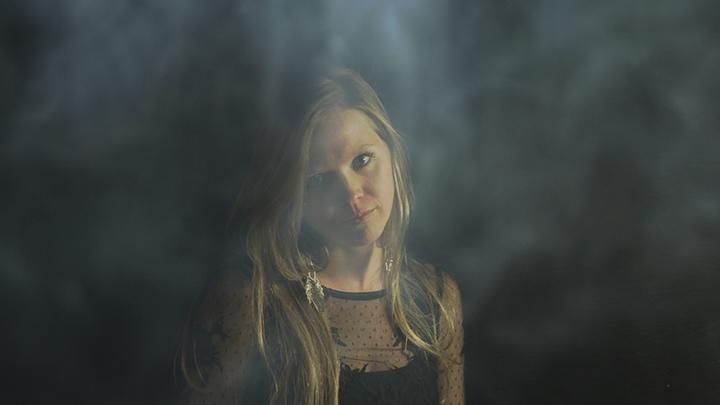Karissa in smoke