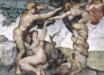 Expulsion from Eden, misogynist Michelangelo