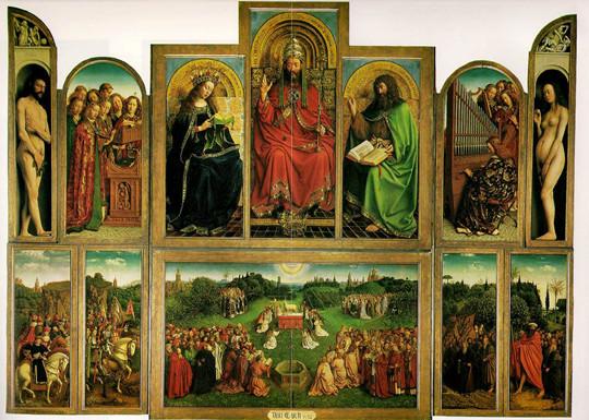 Ghent Altarpiece, Clothes make the man?