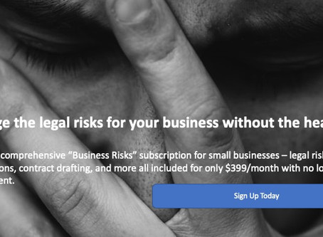 Vail Law's 'Business Risks' Subscription Plan