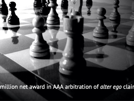 Vail Law Obtains $4.6 Million Net Award in AAA Arbitration Involving Alter Ego Claims