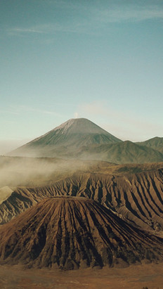 With Volcanic Lava Sand
