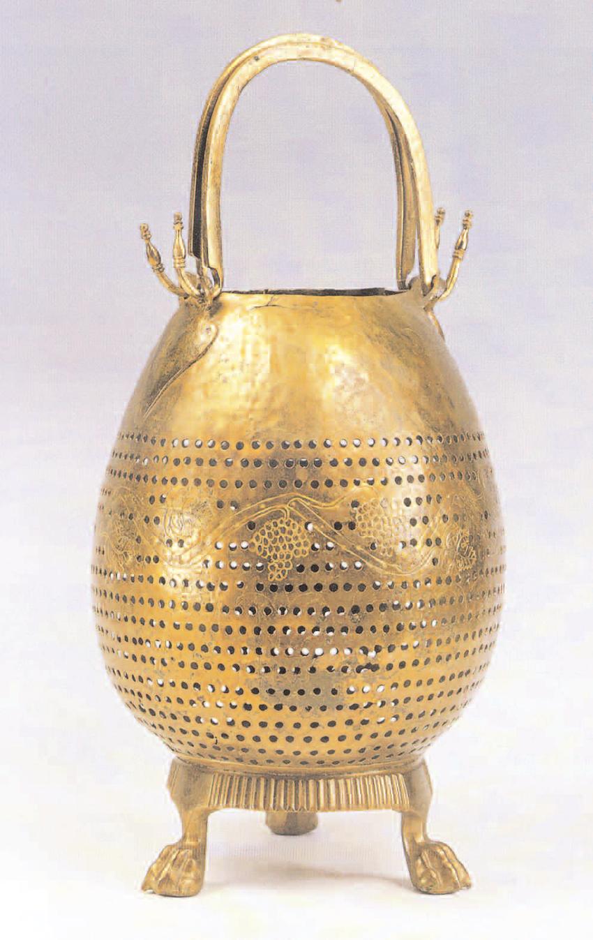 An ancient Greek lamp
