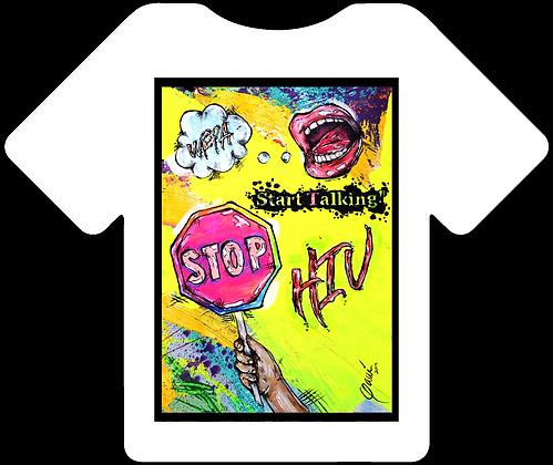WEPA! Start Talking Stop HIV T-Shirt