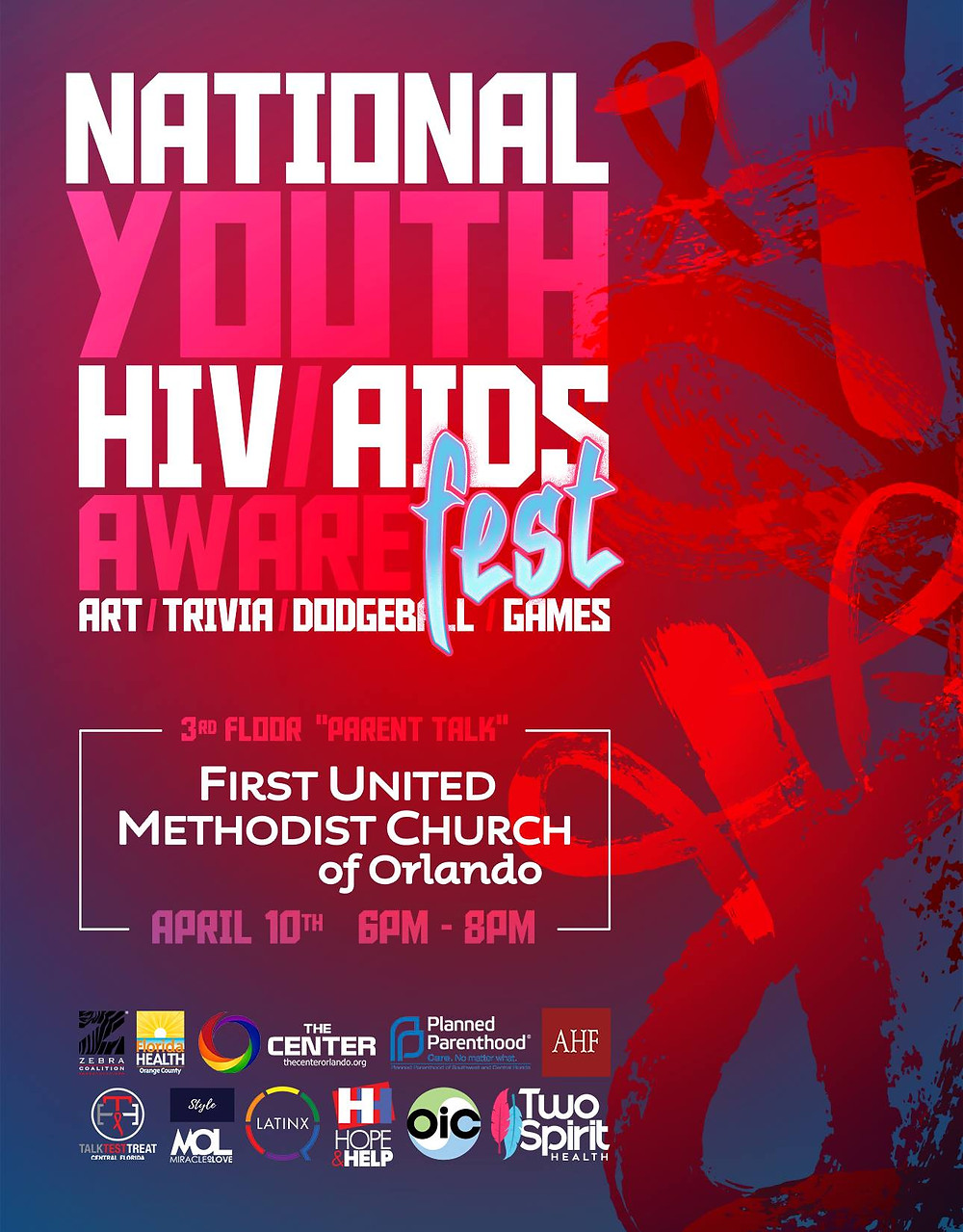 National Youth HIV/AIDS Aware Fest Flyer