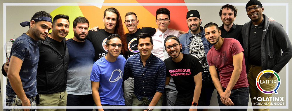 Photo of QLatinx members that attended the grassroots organizing training session, facilitated by Isabel Sousa of the Florida Immigrant Coalition.