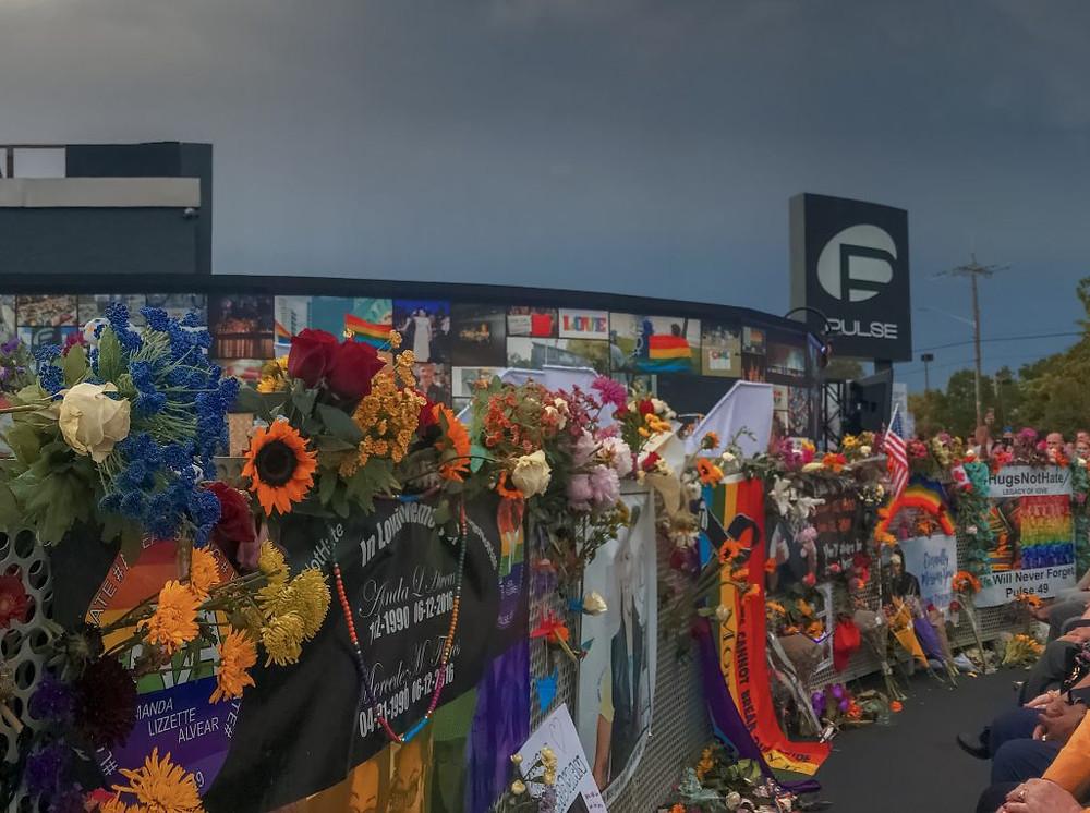 Photo of the Pulse Interim Memorial.