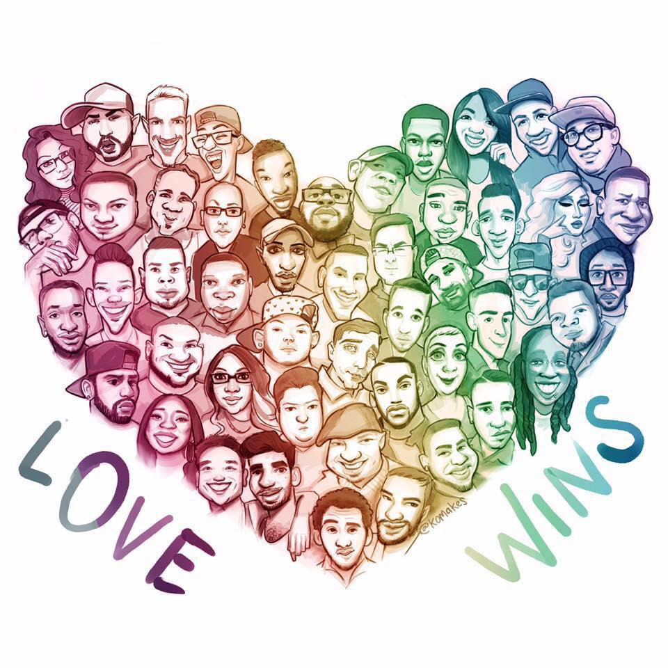 Love Wins: A drawing of the 49 victims of the Pulse Nightclub tragedy