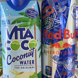 Coconut Water, Red Bull