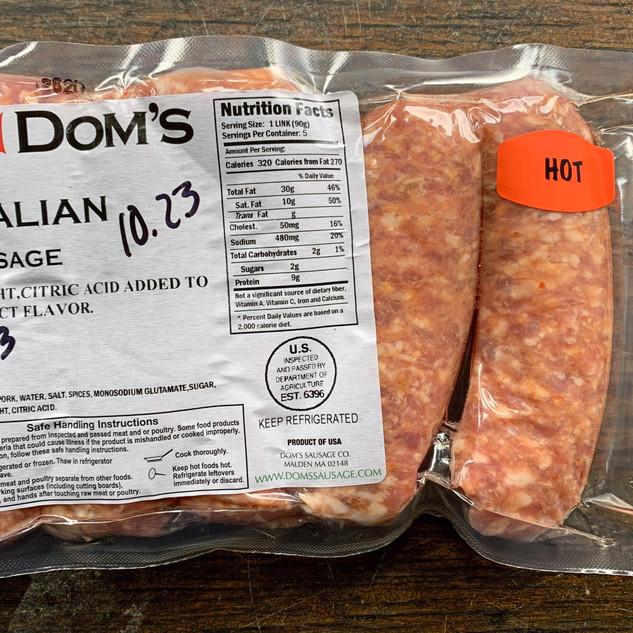 Dom's Hot Italian Sausage
