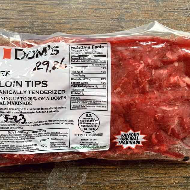 Dom's Beef Sirloin Tips - Original Marinade