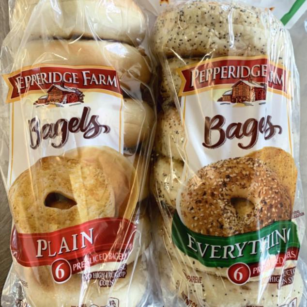 Pepperidge Farm Bagels - Plain & Everyth