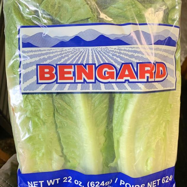 Packaged Romaine Lettuce