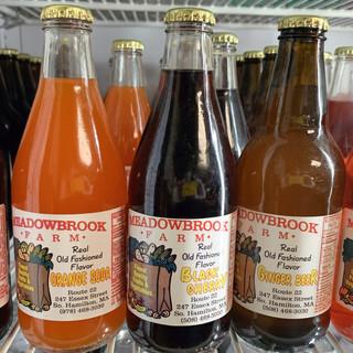 Root Beer, Orange Soda, Black Cherry, Ginger Beer, Lime Rickey