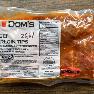 Dom's Beef Sirloin Tips - Steakhouse Marinade