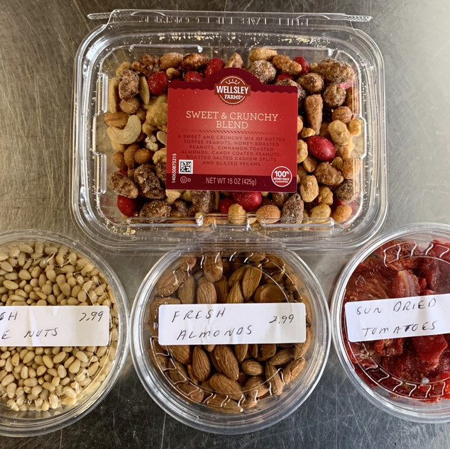 Trail Mix, Pine Nuts, Almonds, Sun-Dried Tomatoes