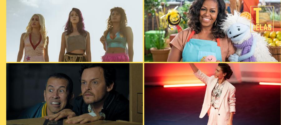Sky Rojo, Waffles + Mochi, Cabras da Peste e The One chegam ao catálogo da Netflix em março. │ Fotos: Divulgação