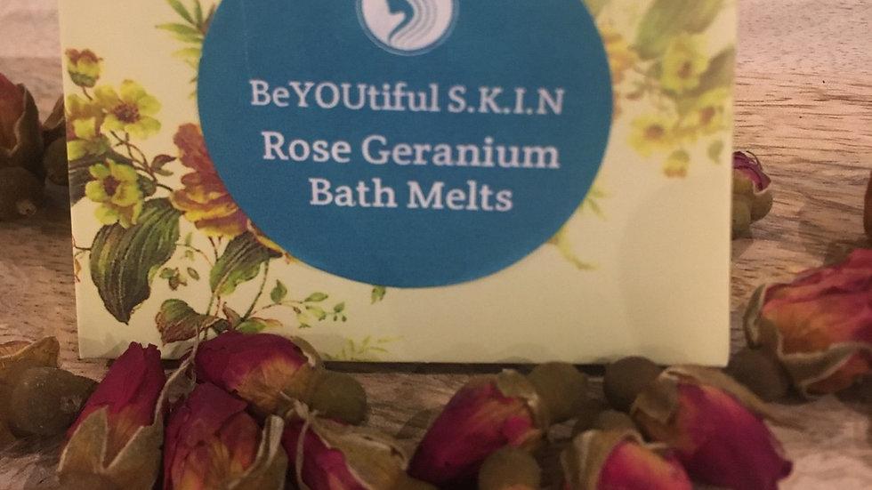 Rose Geranium Bath Melts x 4 Gift Boxed