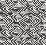"Tissu Stof ""Graphique"" noir/écru"