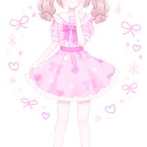 王道ピンクのセーラーワンピ