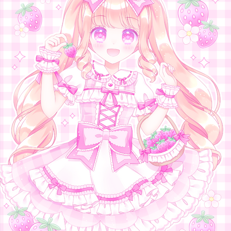 Pinky Strawberry Time