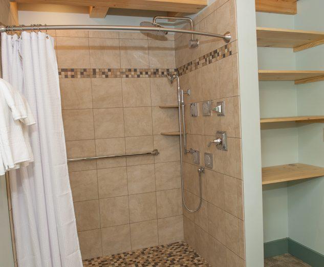 east shower