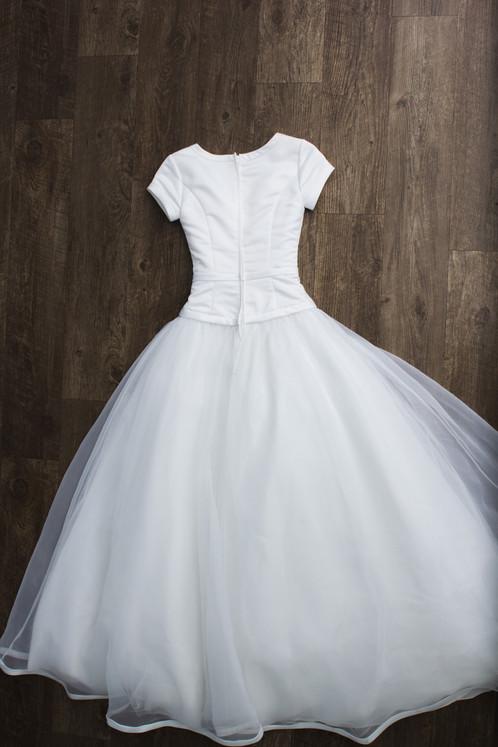Size 0 White Eternity Dress | My Modest Gown: Budget Modest Wedding Dresses