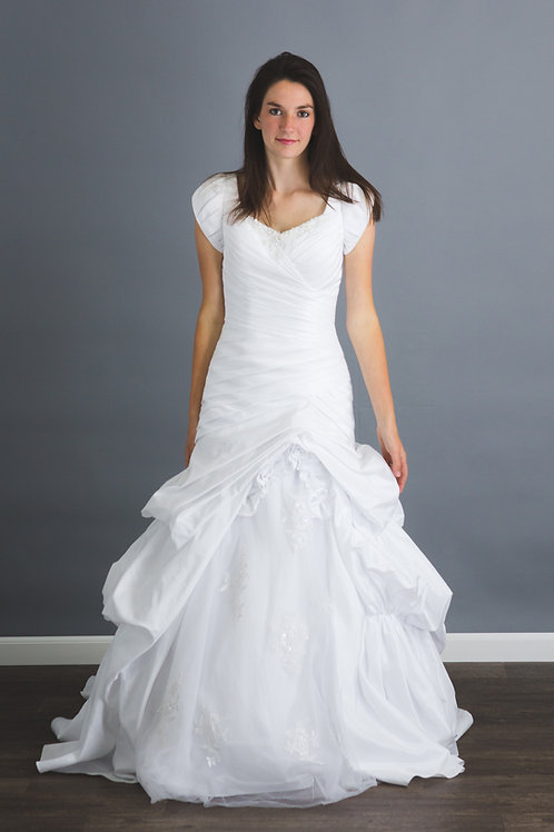 NEW Size 4 White Lace Tulle