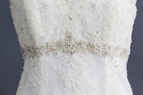 Size 10/12 Ivory Lace with Belt