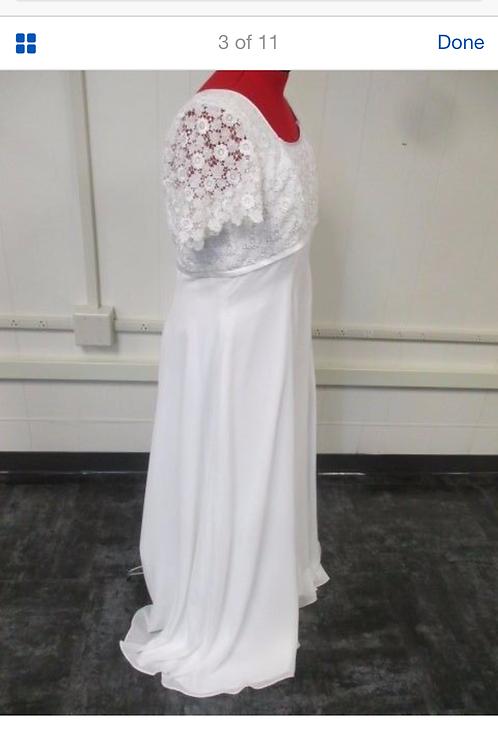 Size 20 White Floral Lace