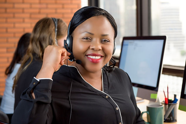 Smiling beautiful black businesswoman wo