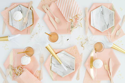 adult kids baby Birthday Party packages in a box napkins party supplies helium tank latex balloons party blowers table decor confetti cutlery script letter foil word balloons champagne wine glasses disposable paper plates straws tableware paper cups plastic cutlery party supplies