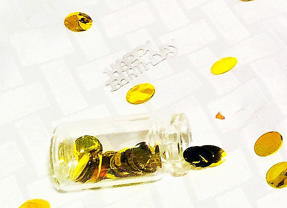 Gold round circle table confetti balloon confetti-small 10g