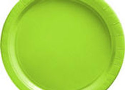 Kiwi Green Paper Lunch Plates 8ct