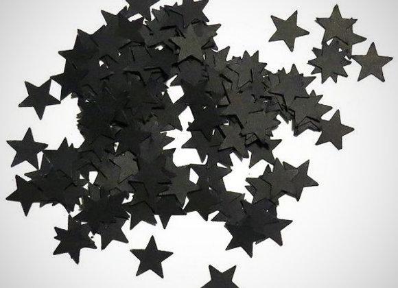 Black Mini Star Confetti -Card Stock