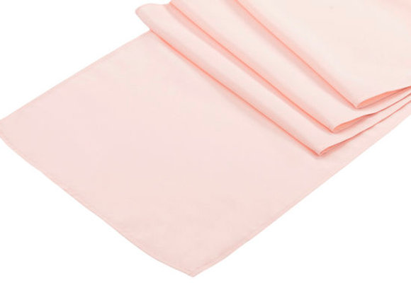 """Polyester Table Runner - Pastel Pink 13""""x108"""""""