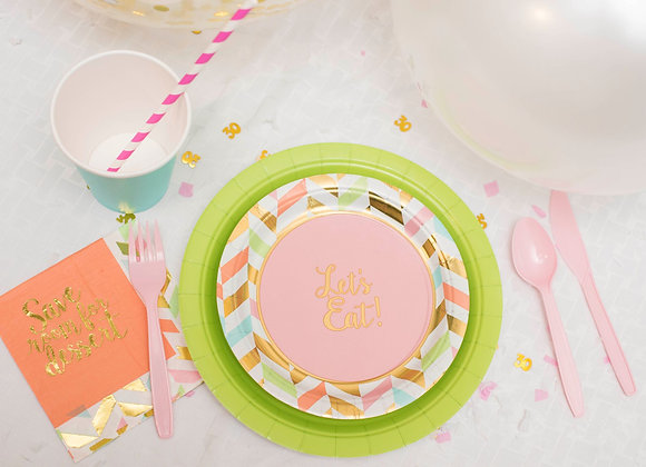 A Pop of Green Pastel Smart Party Pack for 8