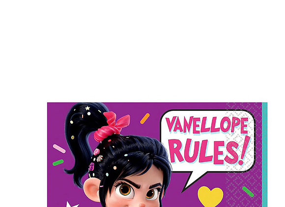 Wreck-it Ralph Vanelope Rules Beverage Napkins 16ct