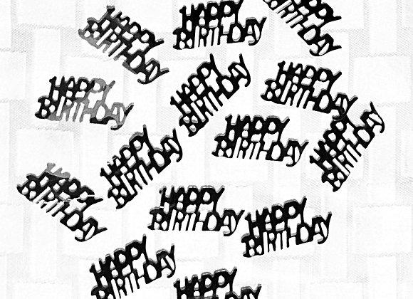 Happy Birthday Table Confetti -Black