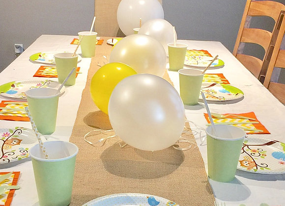 Baby Owl Smart Party Pack for 16 Guests